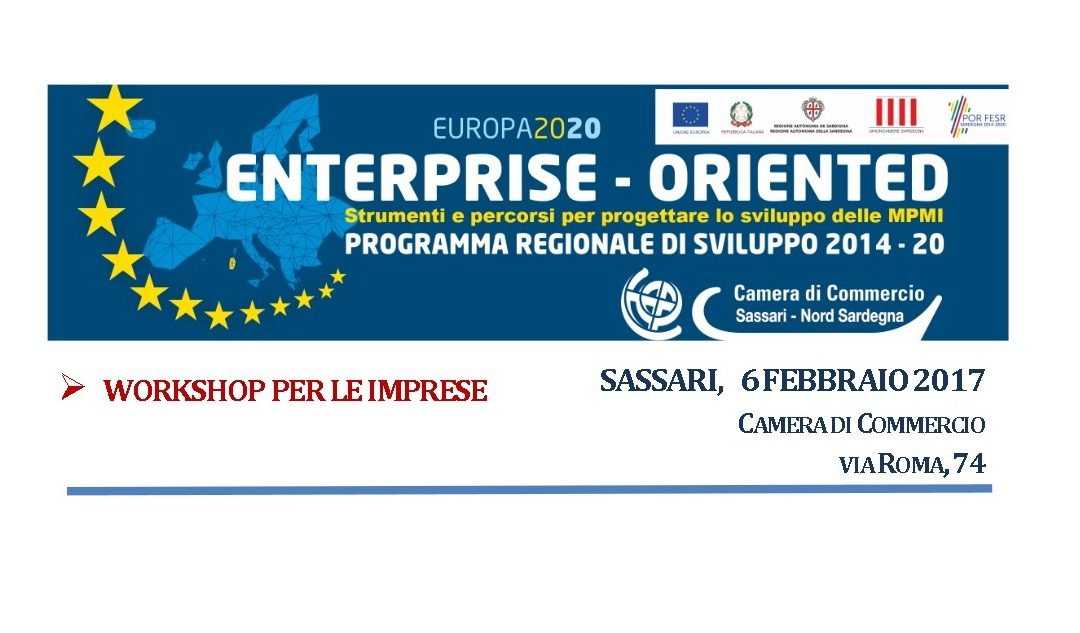 "CCIAA Sassari, Workshop ""Enterprise – Oriented"""
