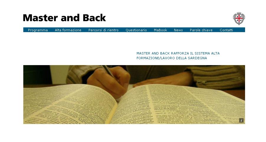 Avviso pubblico programma Master and Back: percorsi di rientro 2016