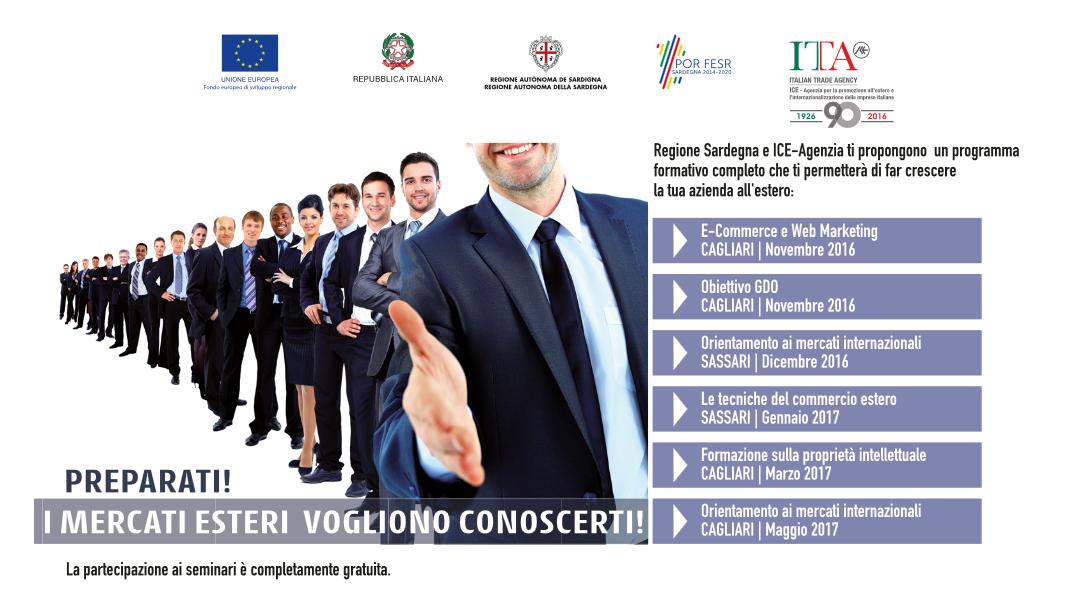 Sardegna, ciclo formativo gratuito dedicato all'internazionalizzazione