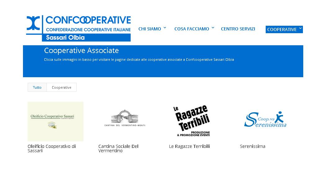 """Attivati i """"mini-siti"""" delle cooperative associate"""