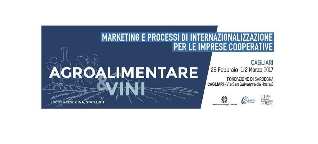 Corso di formazione per l'internazionalizzazione delle imprese cooperative – Cagliari 28 febbraio e 1,2 marzo 2017
