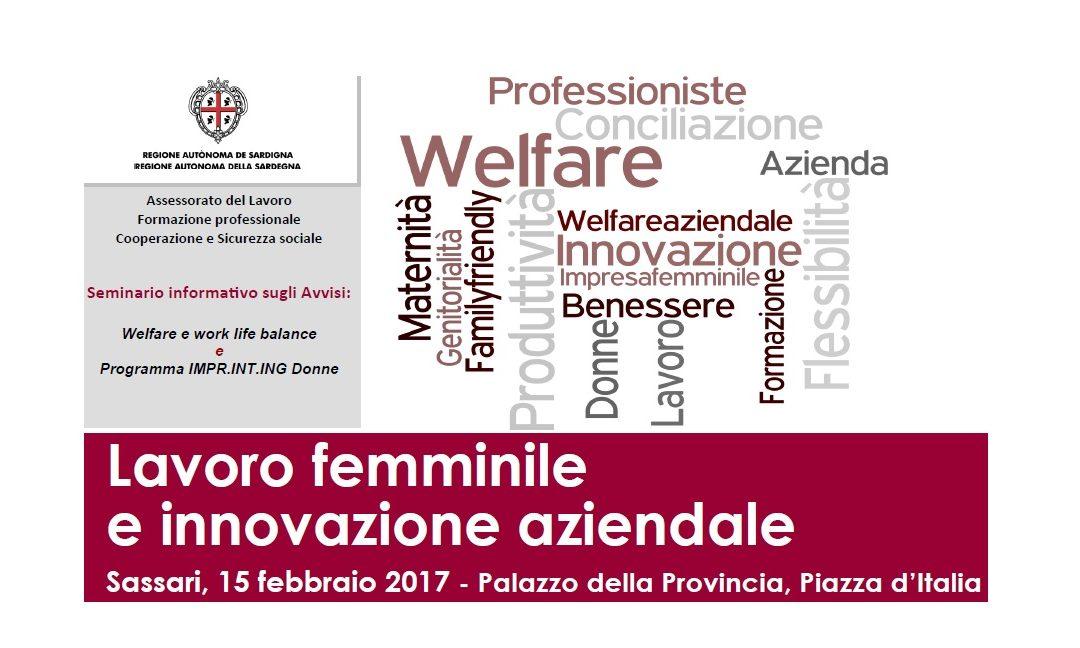 Lavoro femminile e innovazione aziendale – Sassari 15 febbraio 2017