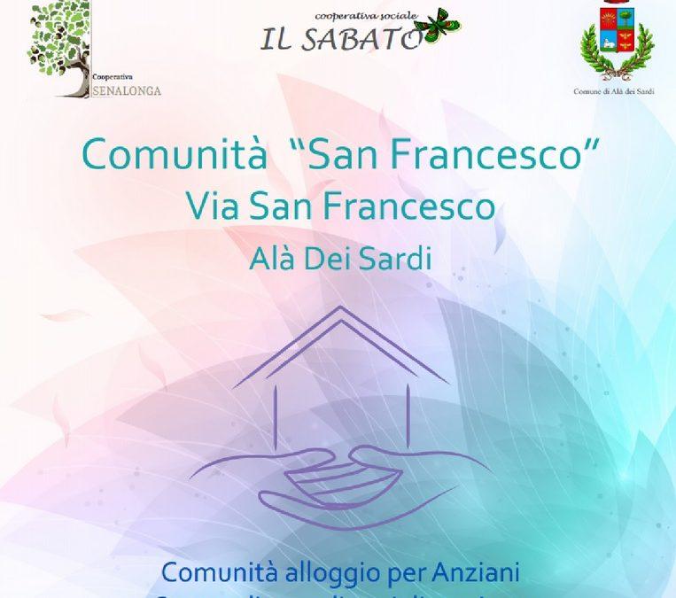 """Cooperativa Il Sabato e Senalonga insieme per la Comunità Alloggio """"San Francesco"""" ad Alà dei Sardi"""