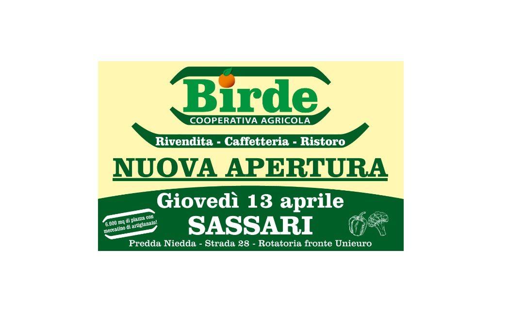 Sassari 13 aprile – Inaugurazione e apertura BIRDE Società Cooperativa