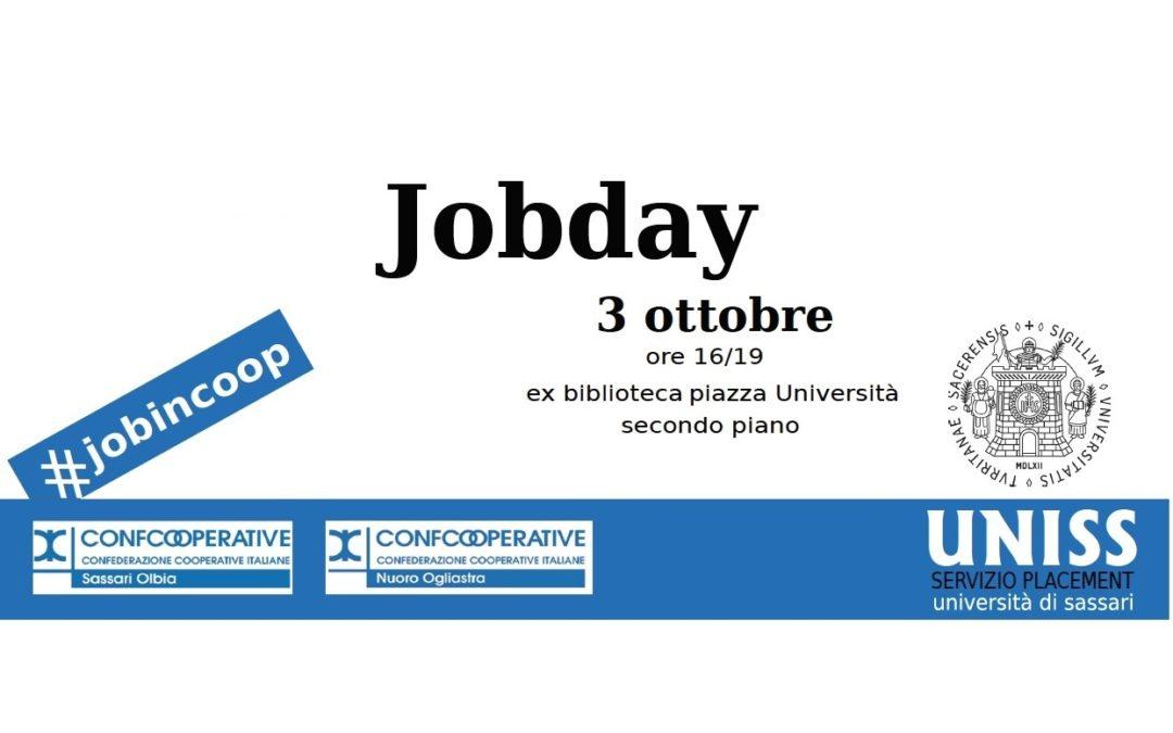 Sono aperte le iscrizioni per l'Evento Job Day! Il 3 ottobre a Sassari – Piazza Università