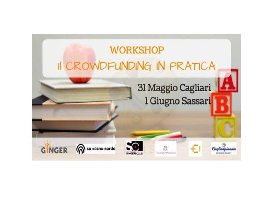 """Ginger fa tappa in Sardegna con il Workshop """"Il crowdfunding in pratica"""": 31 maggio a Cagliari e 1 giugno a Sassari"""