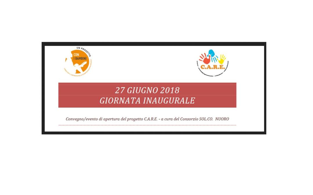 """Nuoro – 27 giugno presentazione progetto """"C.A.R.E. – Cura, Accompagnamento, Relazione, Educazione"""""""