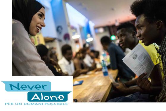 """Bando nazionale Never Alone 2018 """"Verso l'autonomia di vita dei minori e dei giovani stranieri che arrivano in Italia soli""""."""