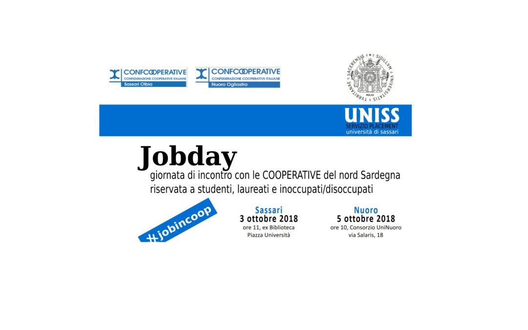 JOB DAY 2018 – Confcooperative e UNISS. Presentazione delle cooperative che parteciperanno.