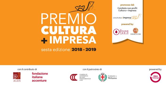 Premio CULTURA + IMPRESA: presentazione dei progetti entro il 28 febbraio 2019.