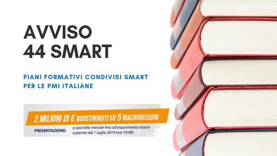 Avviso 44 smart: 2 milioni di euro per la formazione delle PMI