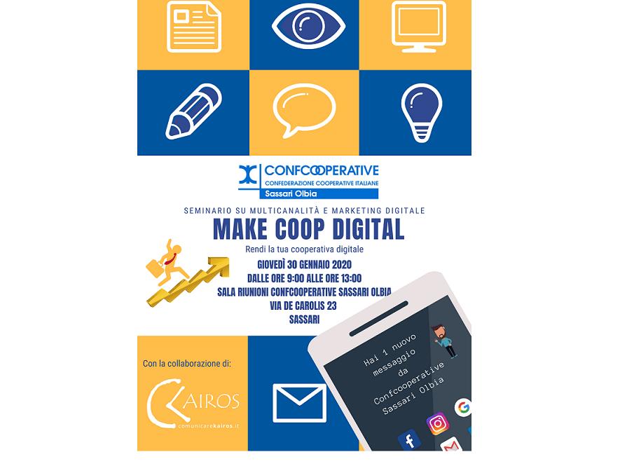 Percorsi di Marketing Digitale per l'impresa cooperativa – Il primo appuntamento il 30 gennaio 2020.