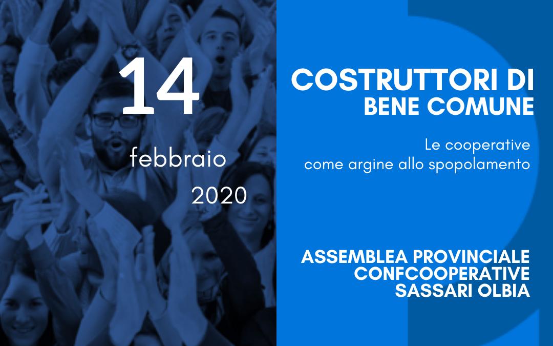 """""""COSTRUTTORI DI BENE COMUNE – Le cooperative come argine allo spopolamento"""" Venerdì 14 febbraio 2020, Saccargia."""