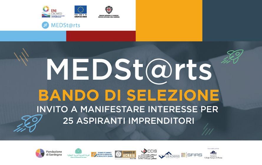 MEDSt@rts – Bando di Selezione per 25 aspiranti imprenditori con scadenza il 4 settembre 2020