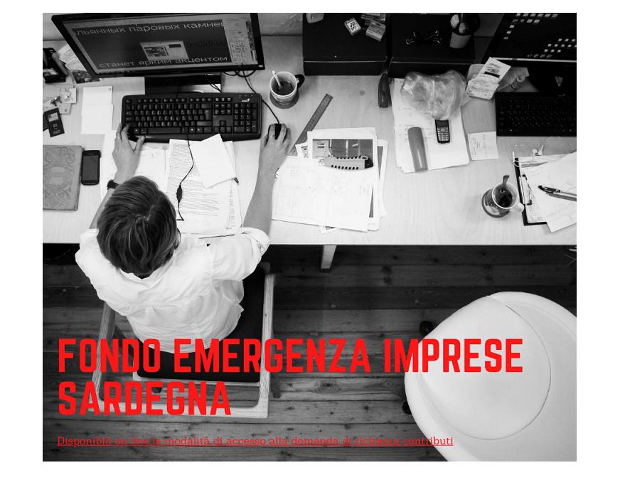 Fondo Emergenza Imprese Sardegna – Disponibili on line le modalità di accesso alla domanda di richiesta contributi