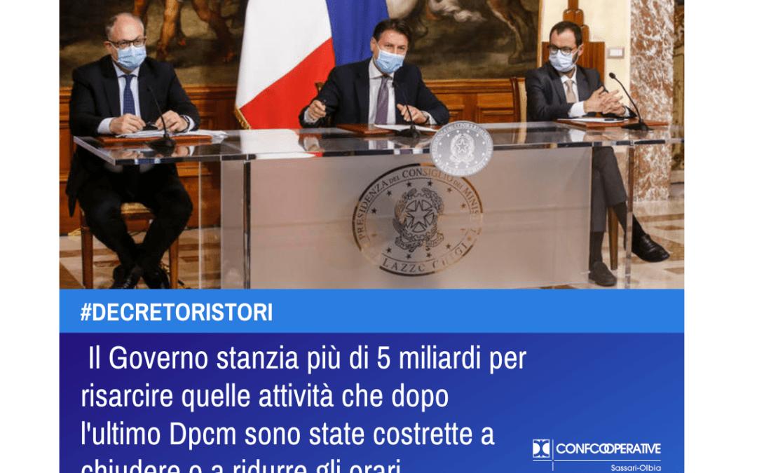 Decreto Ristori: il Governo stanzia più di 5 miliardi per risarcire quelle attività che dopo l'ultimo Dpcm sono state costrette a chiudere o a ridurre gli orari